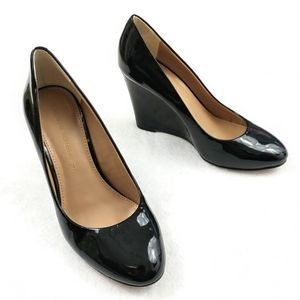 Banana Republic Patent Leather Wedges Size 5M